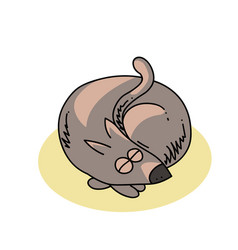 Curled up dog vector