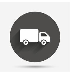 Delivery truck sign icon Cargo van symbol vector image