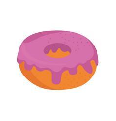 donut delicious dessert vector image vector image