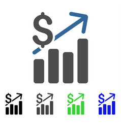 Financial chart flat icon vector