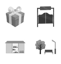 Gift transportation and other monochrome icon in vector