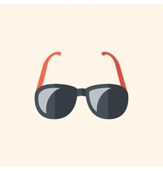 Glasses travel flat icon vector