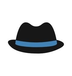 Hat accesory cloth black icon vector