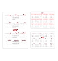 Horizontal and vertical pocket calendar vector image vector image