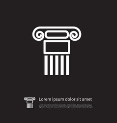 isolated history icon pillar element can vector image vector image