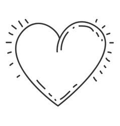 monochrome contour of heart icon vector image