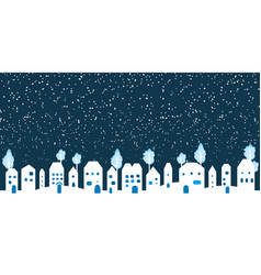 paper white winter snow countryside landscape vector image vector image
