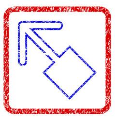 Pull left up grunge framed icon vector