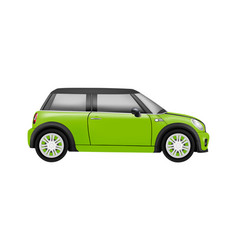 Realistic model of a mini car in on white b vector