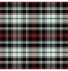 seamless pattern Scottish tartan panda vector image