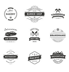Set of minimal vintage hipster logotype templates vector