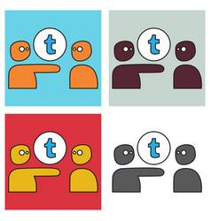 Set of unusual look tumblr social media icons vector