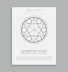 Spiritual sacred geometric poster vector
