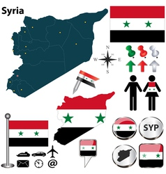 Syria map vector