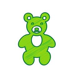 teddy bear sign lemon vector image