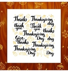 Thanksgiving Day Greeting Lettering vector image
