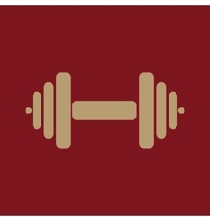 The dumbbell icon barbell symbol flat vector