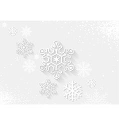 White Christmas Greeting vector image vector image
