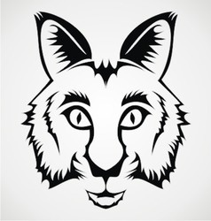 Wild cat tribal vector