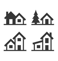 Home icons set for real estate logo vector