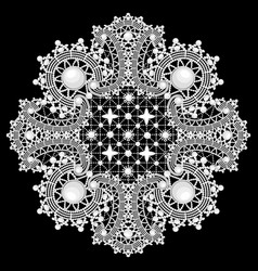 ornamental round lace pattern background with vector image