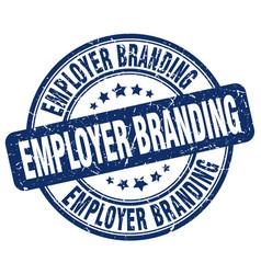 Employer branding blue grunge stamp vector