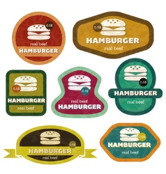 Retro hamburgers vector