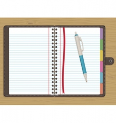 Blank notebook vector