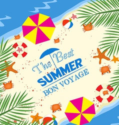 Best summer bon voyage vector