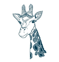 With vintage giraffe vector