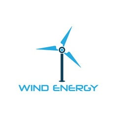 Wind turbine design template vector