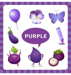 Purple color vector