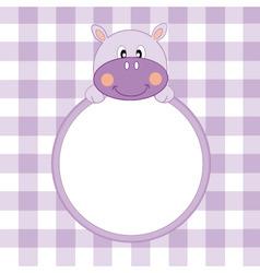 hippo frame vector image