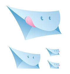 Smiling envelopes vector