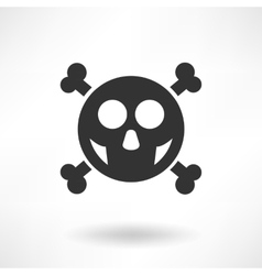 Simply skull icon vector