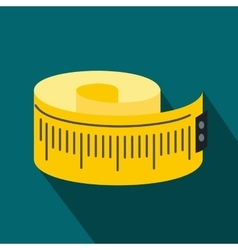Measuring tape flat icon vector