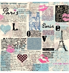 Newspaper paris with a kisses vector