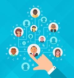 Building social media audience vector