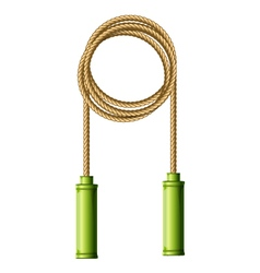 Coiled skipping rope jump-rope ring vector image
