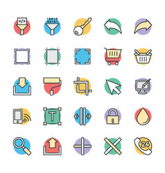 Design and development cool icons 6 vector