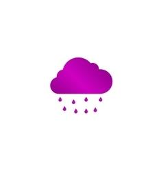 Cloud rain icon vector