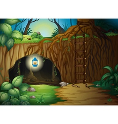 A cave in the jungle vector image vector image