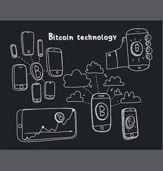 Abstract bitcoin technology vector
