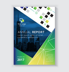 annual report brochure design vector image vector image