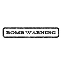 Bomb warning watermark stamp vector
