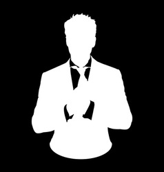 bussines man stencil vector image