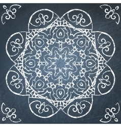 Chalkboard filigree ornament vector image vector image