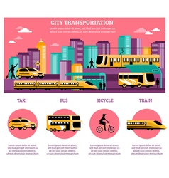 City transportation infographics layout vector