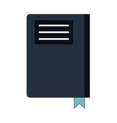 closed book with blank cover icon image vector image