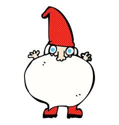 Comic cartoon tiny santa vector